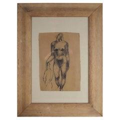 Peter William Ibbetson, Stylized Female Nude, British, circa 1940