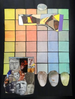 Composition with faces. 2013. Paper, collage, 26x20 cm