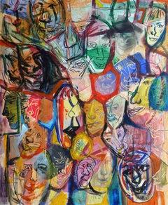 Face composition. 2018. Canvas, acrylic, 49.5x59.5 cm