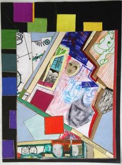 Faces. 2013. Paper, collage, 26x20 cm