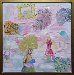 Princess dream. 2018. Oil on canvas, 55x55 cm