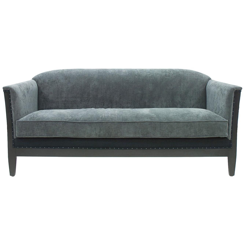 Peterson Sofa with Aqua Velvet Fabric