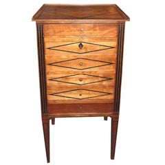 Petit 19th c. Walnut Secretary
