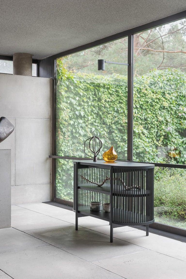 Scandinavian Modern Petit Bastone Sideboard in Black For Sale