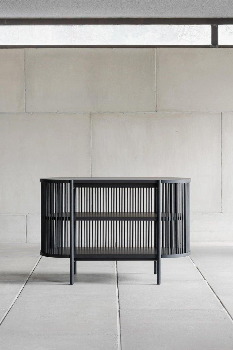 Woodwork Petit Bastone Sideboard in Black For Sale
