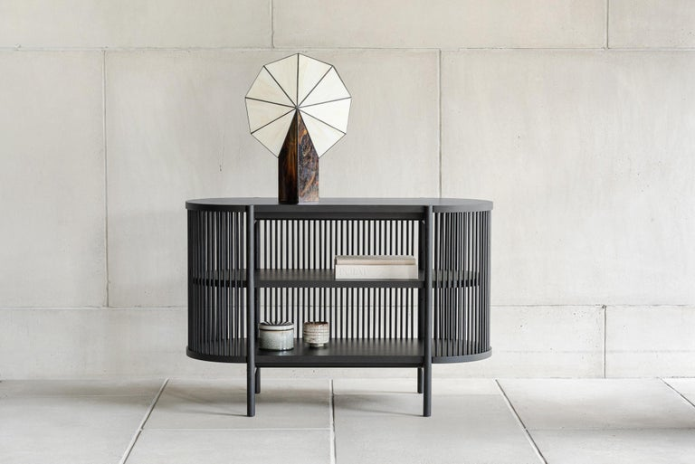 Scandinavian Modern Petit Bastone Sideboard in Black with Doors For Sale