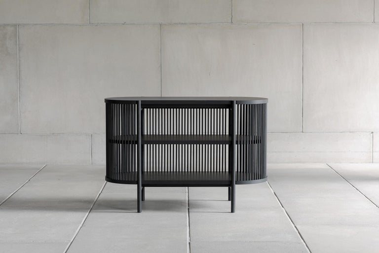 Woodwork Petit Bastone Sideboard in Black with Doors For Sale
