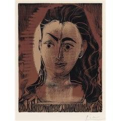 """""""Petit Buste de Femme"""" by Pablo Picasso, Spanish, 1881-1973"""