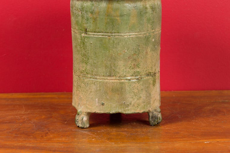 Petit Chinese Ming Dynasty 17th Century Terracotta Granary with Verdigris Patina For Sale 2