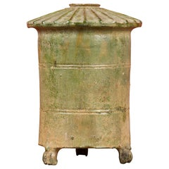 Petit Chinese Ming Dynasty 17th Century Terracotta Granary with Verdigris Patina