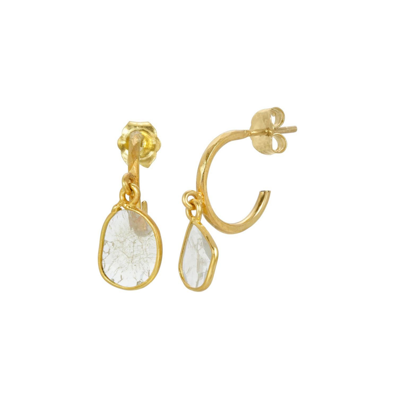 Petit Ethereal Ice Diamond Hoop Earrings