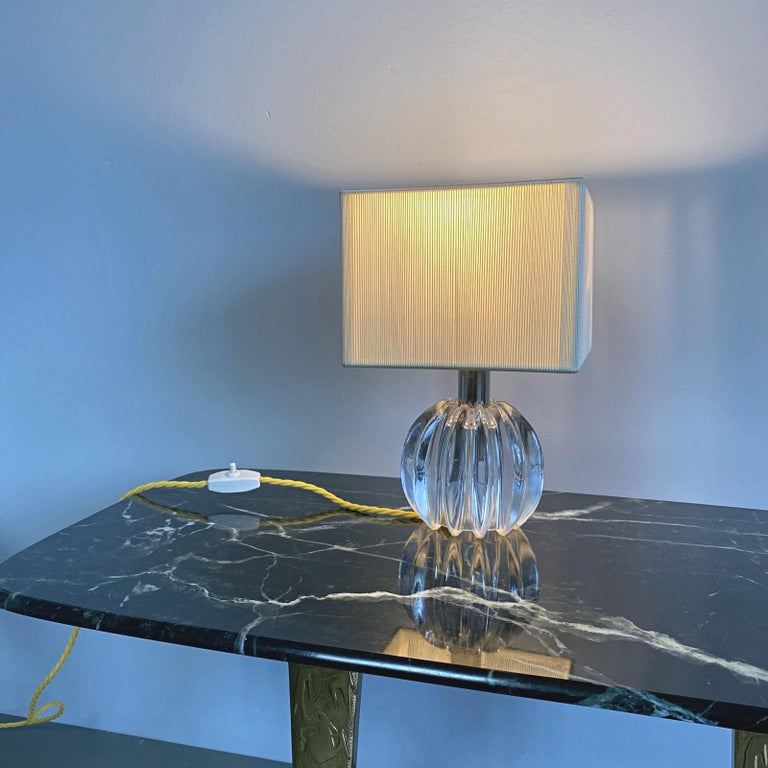 Mid-Century Modern Petit Midcentury Venini Murano Blown Glass Table Lamp, 1950s, Italy For Sale