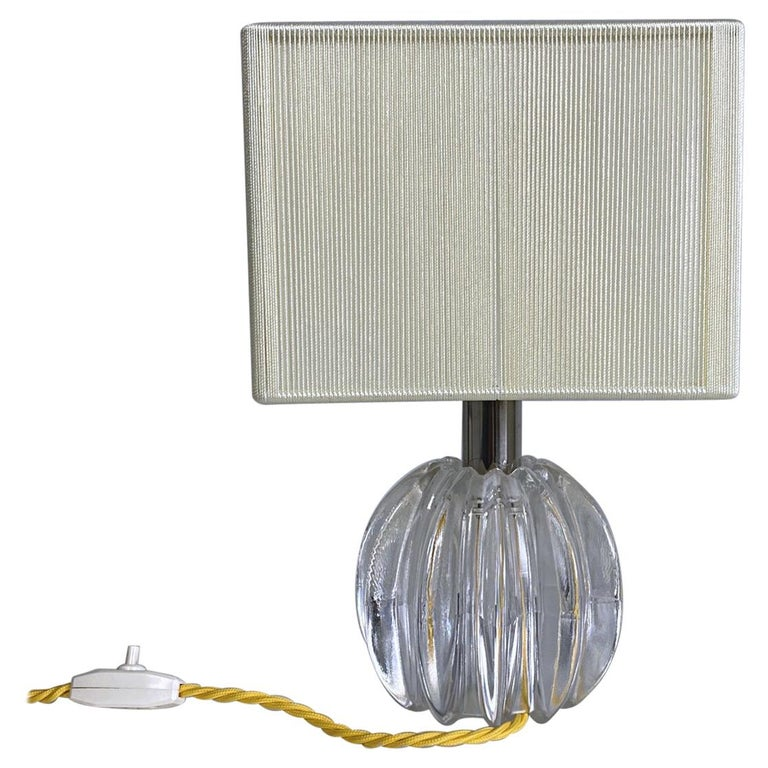 Petit Midcentury Venini Murano Blown Glass Table Lamp, 1950s, Italy For Sale
