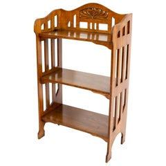 Petit Oak Art Nouveau Shelf / Étagère