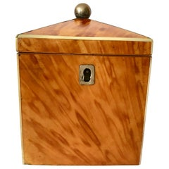 Petite 19th Century Blonde Tea Caddy