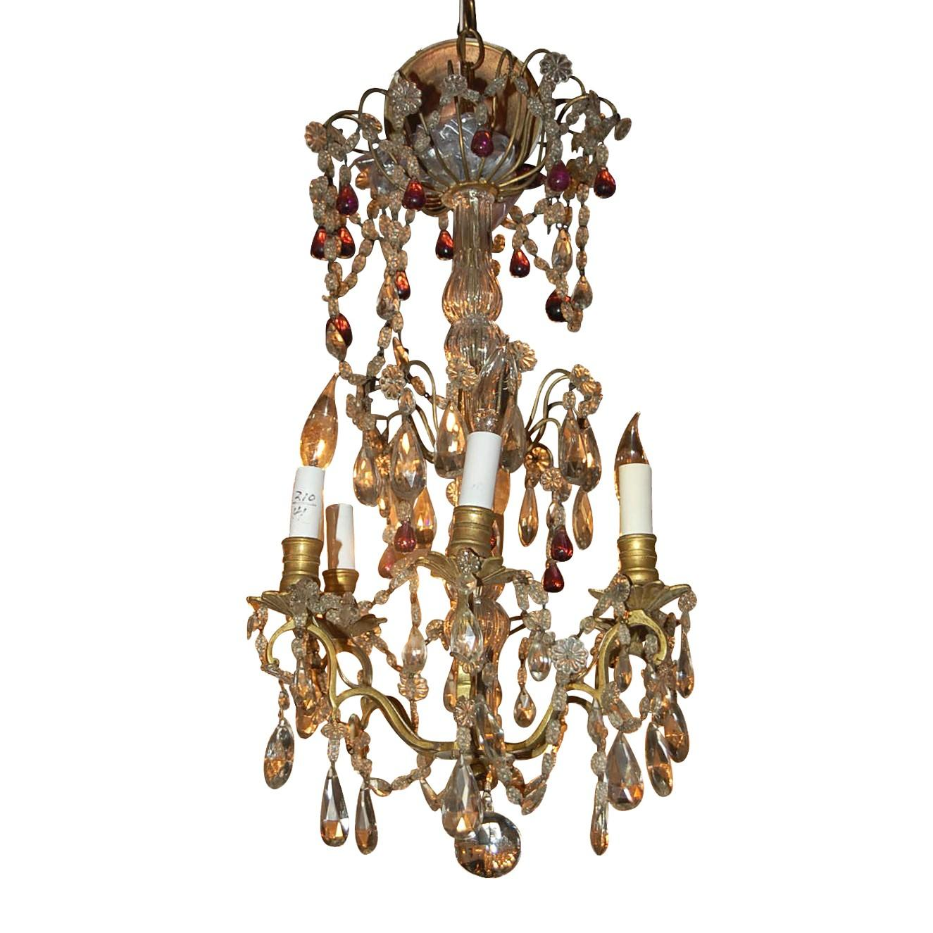 Petite 19th Century French Crystal Chandelier