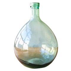 Petite 19th Century French Glass Wine Demijohn