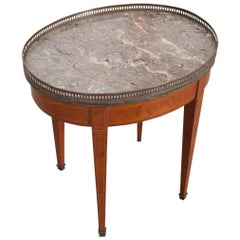 Petite 19th Century French Oval Directoire Table