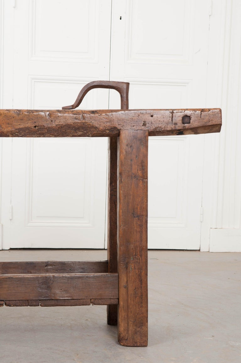 French Provincial Petite 19th Century French Workbench  For Sale