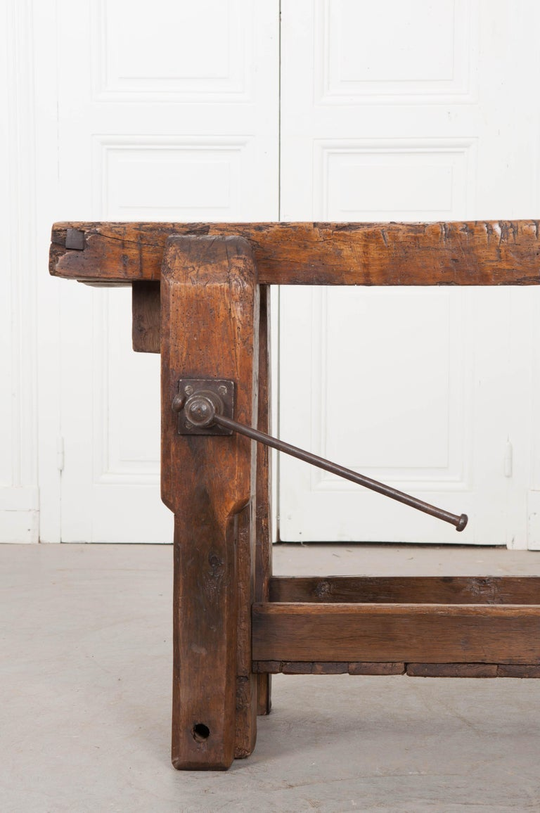 Forged Petite 19th Century French Workbench  For Sale