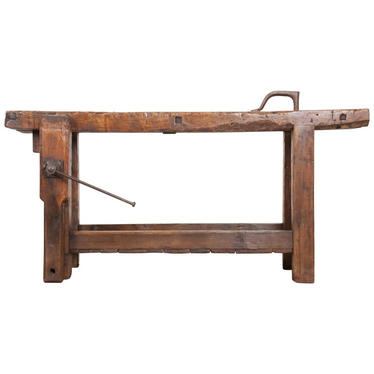 Petite 19th Century French Workbench  For Sale