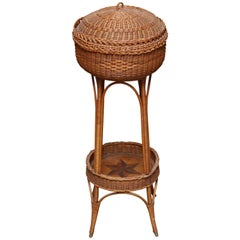 Petite 19th Century Wicker Work Stand