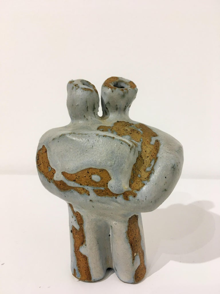 Petite Abstract Clay Sculpture For Sale 2