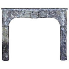 Petite and Fine European Antique Fireplace Surround for Timeless Interior