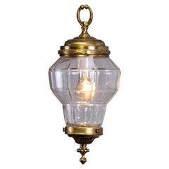 Petite Antique Brass French Hall Lantern