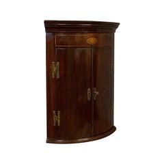 Petite Antique Corner Cabinet, English, Mahogany, Georgian Revival, Victorian