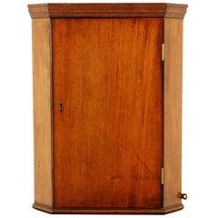 Petite Antique Mahogany Hanging Corner Cabinet, Scotland 1910, B2391