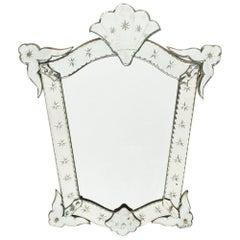 Petite Antique Venetian Mirror