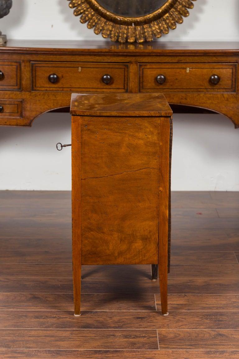 Petite Austrian 1840s Biedermeier Period Walnut Commode with Two-Drawers For Sale 6