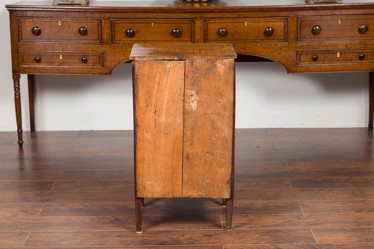 Petite Austrian 1840s Biedermeier Period Walnut Commode with Two-Drawers For Sale 5