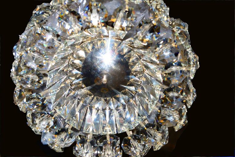 Mid-Century Modern Petite Bakalowits Crystal Chandelier For Sale
