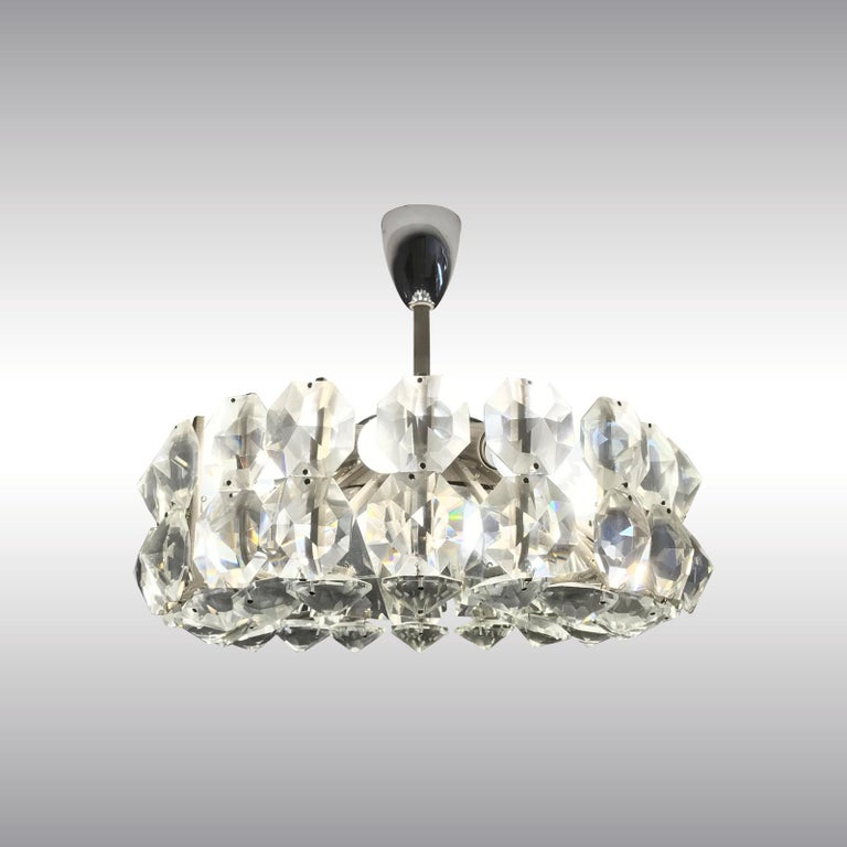 Mid-20th Century Petite Bakalowits Crystal Chandelier For Sale