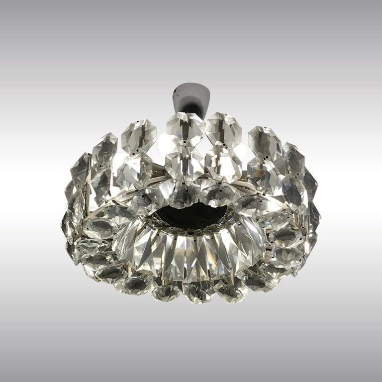 Brass Petite Bakalowits Crystal Chandelier For Sale