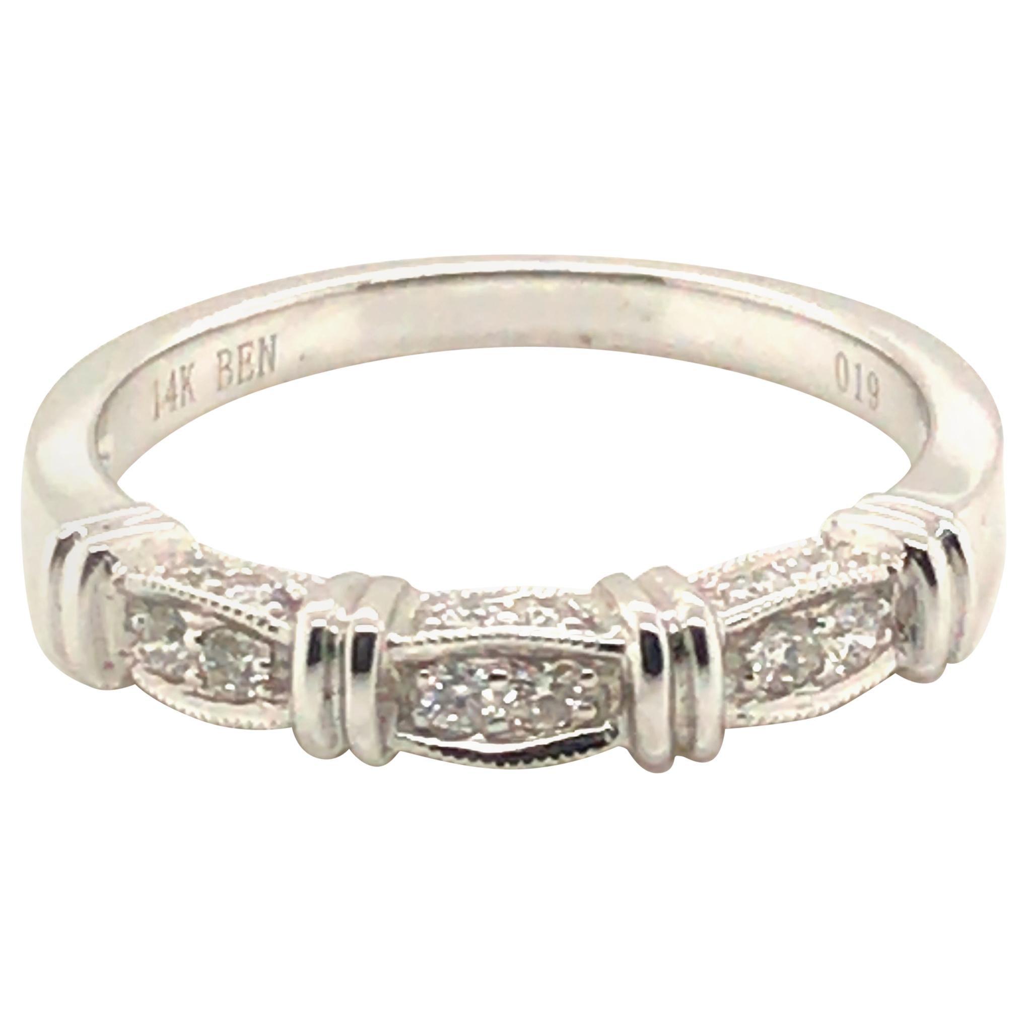 Petite Band Diamond Fashion Ring with 14 Karat Gold