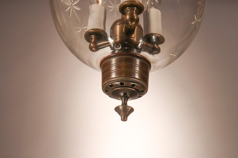 Petite Bell Jar Lantern with Star Etching For Sale 2