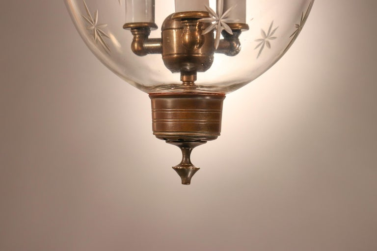 Petite Bell Jar Lantern with Star Etching For Sale 1
