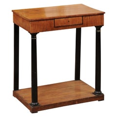 Petite Biedermeier Fruitwood Console Table, Early 19th Century