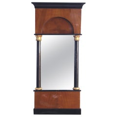 Petite Biedermeier Mirror, Cherry Veneer, South Germany circa 1820