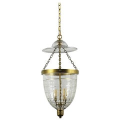Petite Brass English Bell Jar Lantern