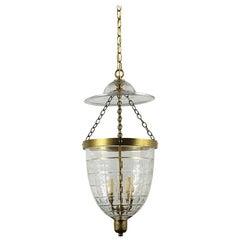 Petite Brass English Bell Jar Lantern