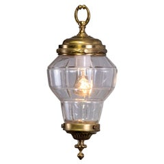 Petite Brass French Hall Lantern