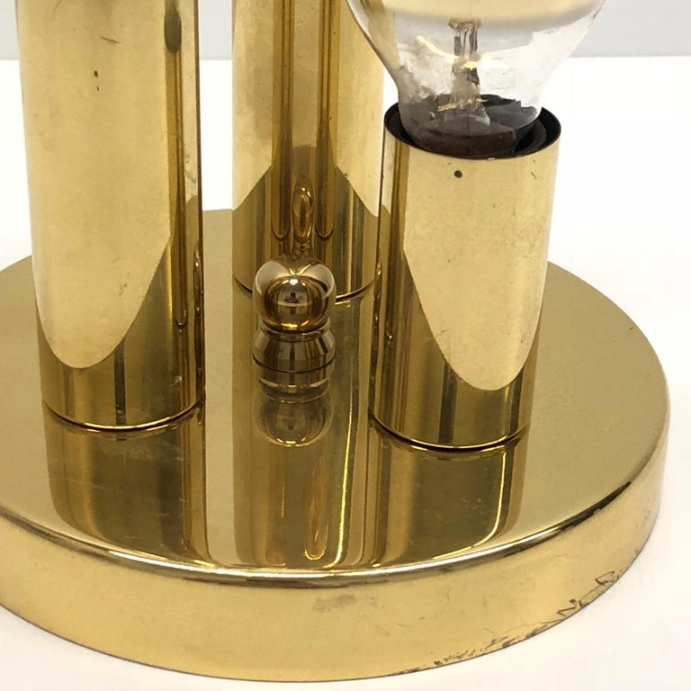 Petite Brass Sputnik Three-Light Flash Mount or Sconce by Soelken Leuchten In Good Condition For Sale In Frisco, TX