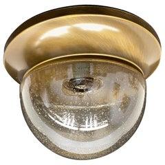 Petite Bronzed Metal Air Bubble Glass Flush Mount, Austria, 1980s