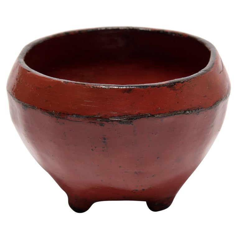 Petite Burmese Red Lacquer Bowl