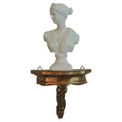 "Petite Bust of Greek Goddess ""ARTEMIS"" on Florentine Wall Bracket"