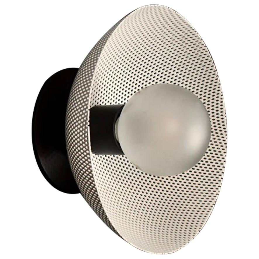 Petite Centric Wall Sconce in Enamel Mesh & Oil-Rubbed Bronze Blueprint Lighting